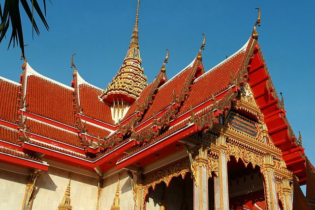 Example of Architecture, Chalong Temple, Phuket
