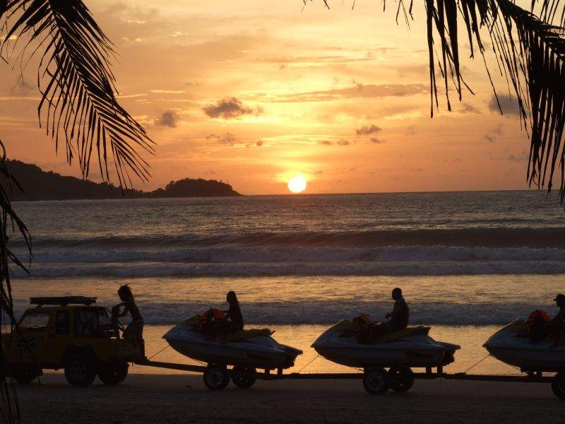 Jet Skis at sunset, Patong Beach