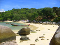 Popular private beach at the south side of Patong,Phuket