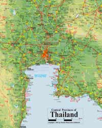 Central Thailand Map