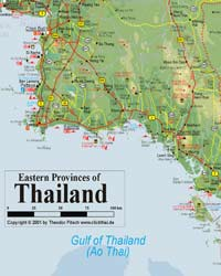 Eastern Thailand Map