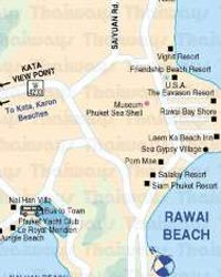 Rawai Beach and Chalong Map