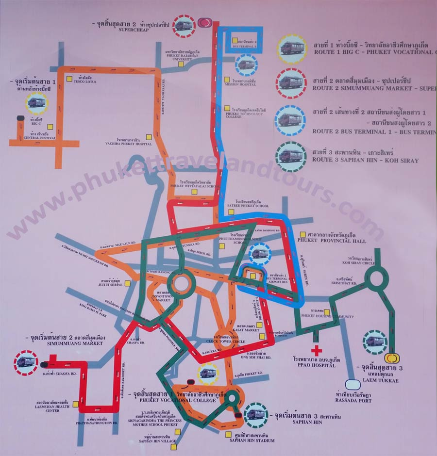 Phuket Travel and Tours Baht Bus Guide