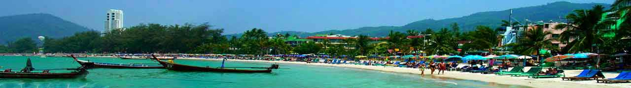 Phuket Beach on a beautiful day in the land of smiles