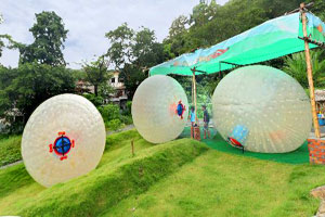 Zorbing or Rollerballing